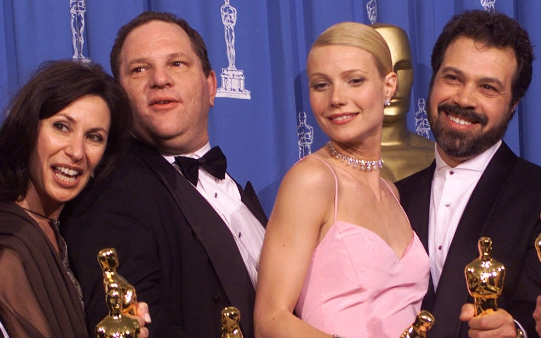 Harvey Weinstein (second from left) celebrates with Gwyneth Paltrow (second  from right)