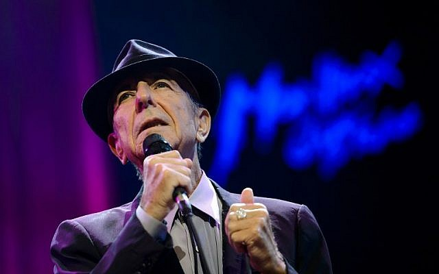 Canadian songwriter Leonard Cohen performing at the Auditorium Stravinski during the 47th Montreux Jazz Festival in Montreux, Switzerland, July 5, 2013. (AFP PHOTO / FABRICE COFFRINI)