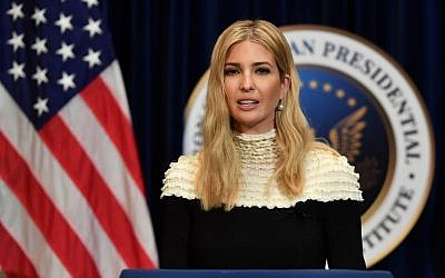Ivanka Trump speaks at a fireside chat on tax reform with at the Ronald Reagan Presidential Library in Simi Valley, California, on November 5, 2017. (AFP PHOTO / FREDERIC J,. BROWN)