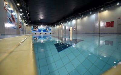 The swimming pool of the Mohammed bin Nayef Center for Counseling and Advice, a rehab center for jihadists, on October 4, 2017, in the Saudi capital Riyadh. (AFP Photo/Fayez Nureldine)
