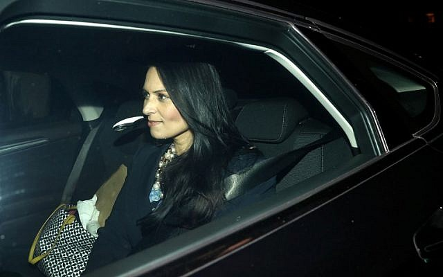 Britain's International Development Secretary Priti Patel leaves 10 Downing Street in London on November 8, 2017, after a meeting with Prime Minister Theresa May (AFP/Adrian Dennis)
