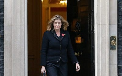 Britain's newly appointed international development secretary, Penny Mordaunt leaves 10 Downing Street in London on November 9, 2017, after being appointed to the position. (AFP Photo/Daniel Leal-Olivas)