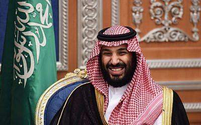 Saudi Crown Prince Mohammed bin Salman attends a meeting with Lebanon's Christian Maronite patriarch on November 14, 2017, in Riyadh. (AFP/ Fayez Nureldine)