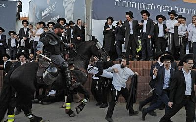Dozens of ultra-Orthodox arrested in fresh anti-draft protests