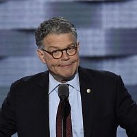 US Senator Al Franken speaking during the Democratic National Convention at the Wells Fargo Center in Philadelphia, Pennsylvania. July 25, 2016.(AFP PHOTO / SAUL LOEB)