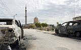 A picture taken on November 25, 2017, shows the Rawda mosque, roughly 40 kilometres west of the North Sinai capital of El-Arish, after a gun and bombing attack. (AFP Photo/Stringer)