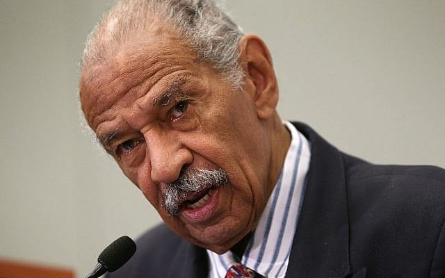 US Rep. John Conyers (D-MI) speaking at a session during the Congressional Black Caucus Foundation's 45th annual legislative conference September 18, 2015, in Washington, DC. (AFP PHOTO / GETTY IMAGES NORTH AMERICA / ALEX WONG)