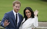Prince Harry with his fiancée US actress Meghan Markle announcing their engagement in London. (AFP Photo/Daniel Leal-Olivas)