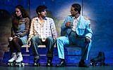 Rachel Prather, Etai Benson and Ariel Stachel in  the Broadway remake of 'The Band's Visit.' (Photo by Matthew Murphy)