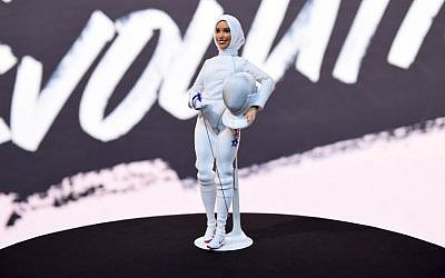 The Ibtihaj Muhammad barbie on display during Glamour Celebrates 2017 Women Of The Year Live Summit at Brooklyn Museum on November 13, 2017 in New York City. (Ilya S. Savenok/Getty Images for Glamour/AFP)