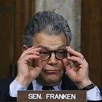 Sen. Al Franken participates in a Senate Energy and Natural Resources Committee hearing on hurricane recovery efforts in Puerto Rico and US Virgin Islands, on Capitol Hill November 14, 2017 in Washington, DC. (Mark Wilson/Getty Images/AFP)