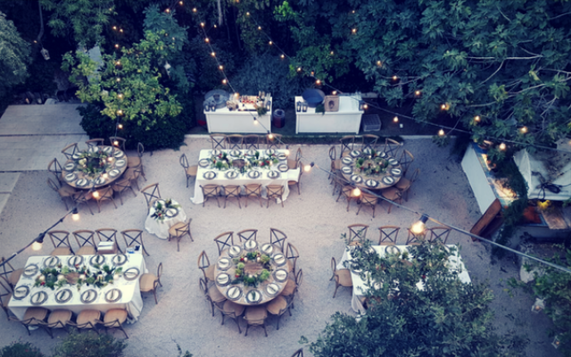 Candle Lit Jerusalem Rustic Wedding in the Wild, Ein Kerem Israel.