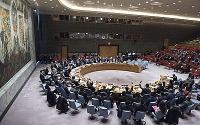 A Security Council meeting on November 15, 2017. (UN/Kim Haughton)