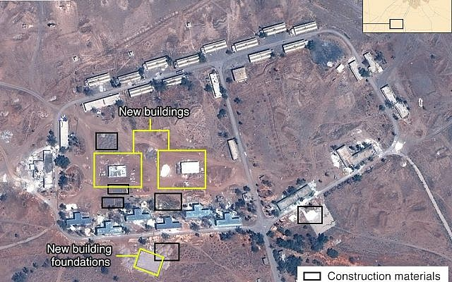 Satellite image of alleged Iranian base in Syria (Airbus, Digital Globe and McKenzie Intelligence Services/BBC)