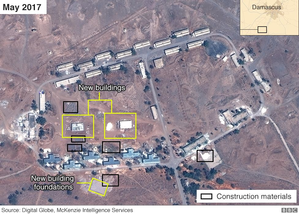 satellite image of alleged iranian base in syria airbus digital globe and mckenzie intelligence