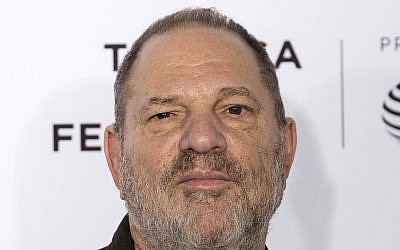 "Illustrative: Harvey Weinstein attends the ""Reservoir Dogs"" 25th anniversary screening during the 2017 Tribeca Film Festival in New York, April 28, 2017. (Charles Sykes/Invision/ AP)"