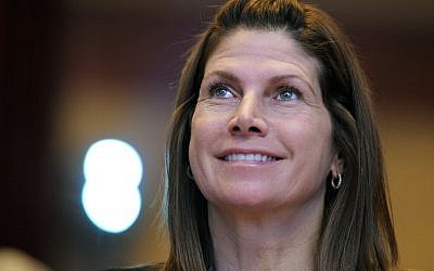 In this Feb. 12, 2011, file photo, then-Rep. Mary Bono, Republican of California, listens at the Conservative Political Action Conference (CPAC) in Washington. (AP Photo/Cliff Owen, File)