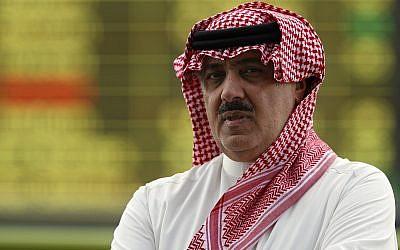 Prince Miteb bin Abdullah, son of Saudi King Abdullah bin Abdul Aziz al-Saud, leaves the equestrian club following a horse racing competition in Janadriyah, on the outskirts of the Saudi capital Riyadh, October 23, 2008. (AP/Hassan Ammar)