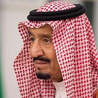 In this photo provided by the Saudi Press Agency, King Salman attends a swearing in ceremony in Riyadh, Saudi Arabia, on November 6, 2017. (Saudi Press Agency, via AP)