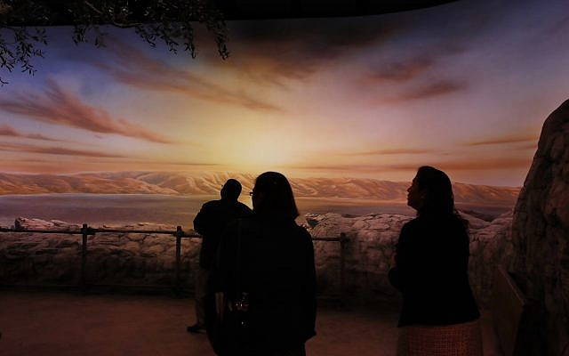 "People preview the exhibit ""The World of Jesus of Nazareth"" at the Museum of the Bible, Monday, Oct. 30, 2017, in Washington. The museum was built by the owners of Hobby Lobby, cost $500 million to build, covers 430,000 square feet and is a few blocks from the U.S. Capitol. (AP Photo/Jacquelyn Martin)"