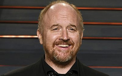 Louis C.K. arrives at the Vanity Fair Oscar Party in Beverly Hills, California, February. 28, 2016. (Evan Agostini/Invision/AP)