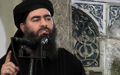 This file image made from video posted on a militant website July 5, 2014, shows the leader of the Islamic State group, Abu Bakr al-Baghdadi, delivering a sermon at a mosque in Iraq. (AP/Militant video, File)