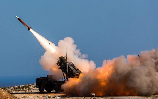Illustrative: In this Wednesday, November 8, 2017 photo released by the US Department of Defense, German soldiers assigned to Surface Air and Missile Defense Wing 1 fire the Patriot weapons system at the NATO Missile Firing Installation, in Chania, Greece. (Sebastian Apel/US Department of Defense, via AP)