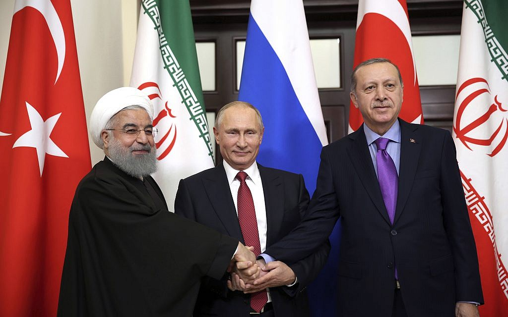 Putin, Erdogan, Rouhani to meet in Iran for talks on 'normalization' in Syria   The Times of Israel