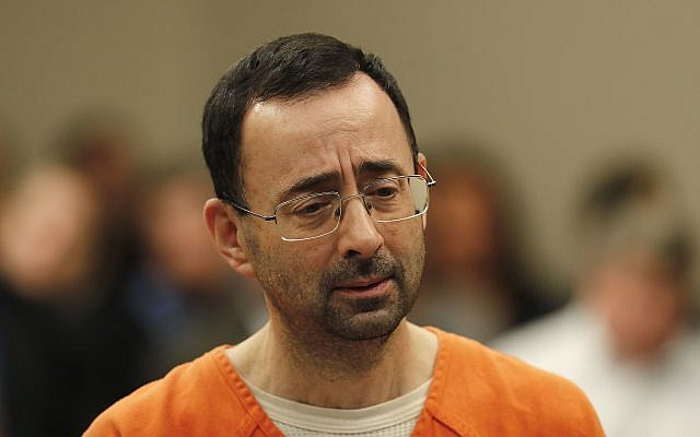 Larry Nassar, 54, appears in court for a plea hearing in Lansing, Michigan, November 22, 2017. (AP Photo/Paul Sancya)