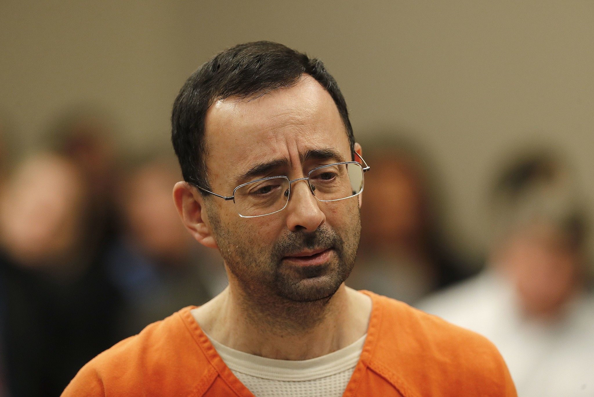Larry Nassar  Appears In Court For A Plea Hearing In Lansing Michigan