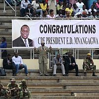People gather for the presidential inauguration ceremony of Emmerson Mnangagwa in Harare, Zimbabwe, November 24, 2017. (AP Photo/Tsvangirayi Mukwazhi)