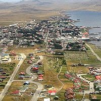 Port Stanley, The Falklands Islands seen in 2005. (CC BY-SA Wikimedia commons)