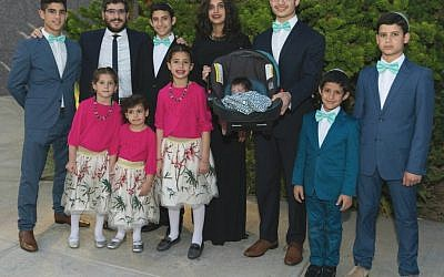 The Allouche family, 2017 (courtesy Pinchas Allouche)