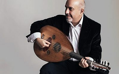 Renowned Armenian-American oud player Ara Dinkjian, who will appear at the Oud Festival on Saturday night, November 4 (Courtesy Alena Soboleva)