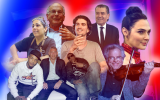 Seven Israelis who made a deep impact on life in America. (JTA collage/Getty Images)