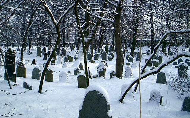 The Jewish cemetery in the Polish town of Chrzanow. (Public domain, Wikimedia Commons)