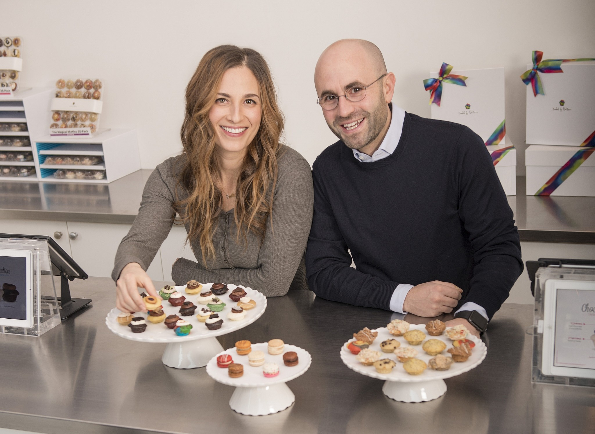 Melissa Ben-Ishay with Baked by Melissa CEO Seth Horowitz. (Courtesy)