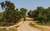A twisting road near Kibbutz Be'eri, part of the Israel Trail (Chen Leopold/Flash90)