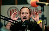 Radio host Gabi Gazit seen here working at the radio station of 103FM on July 5, 2010. (Moshe Shai/Flash90)