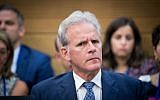 Deputy Minister Michael Oren at the Knesset, June 27, 2017. (Yonatan Sindel)