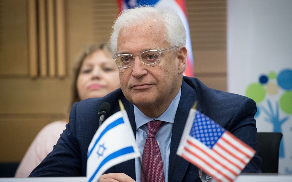 After terror attack, US ambassador accuses Palestinians of preventing peace