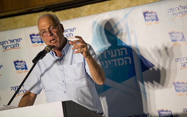 Agriculture Minister Uri Ariel at a conference of the National Union Political party in Jerusalem on September 12, 2017. (Yonatan Sindel/Flash90)