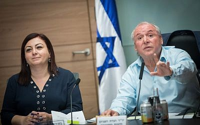 Likud MK David Amsalem, chairman of the Interior Affairs Committee, leads a meeting  in the Knesset in Jerusalem, on November 8, 2017. (Yonatan Sindel/Flash90)
