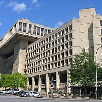 FBI headquarters (J. Edgar Hoover Building)  on Pennsylvania Avenue, Washington DC.  (CC BY-SA I, Aude, Wikimedia Commons)