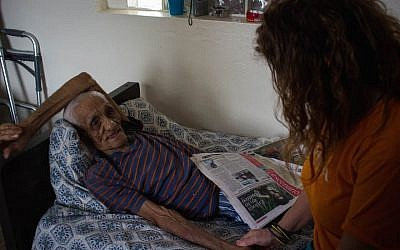 This man lives in a nursing home that has not had power since Hurricane Irma. (Marissa Roer via JTA)