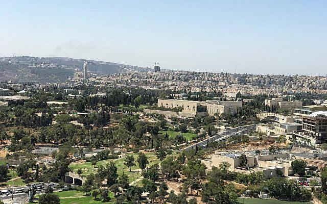 The Supreme Court in Jerusalem, September 20, 2017. (Times of Israel/Stuart Winer)