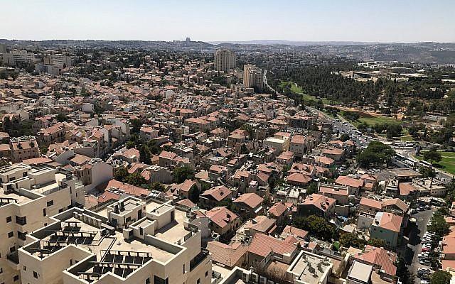 View of west Jerusalem, September 8 2017. (Stuart Winer/Times of Israel)