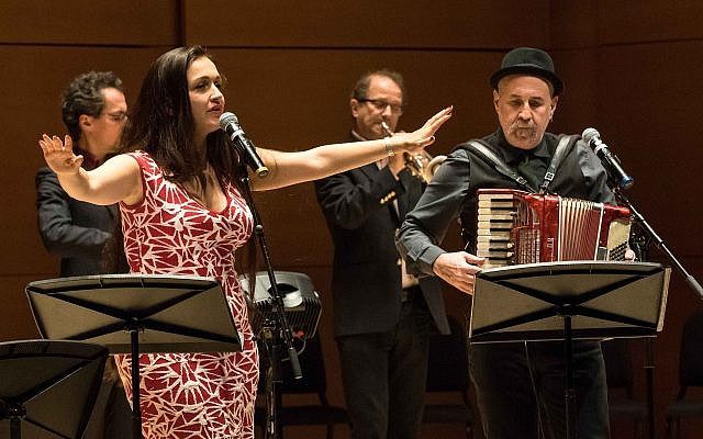 The Semer Project performed at Tufts University in Medford, Massachusetts, on Nov. 14, 2017 (Ilene Perlman/Jewish Arts Collaborative)