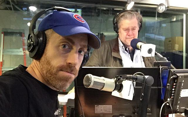 Joel Pollak with Stephen Bannon. (Courtesy)