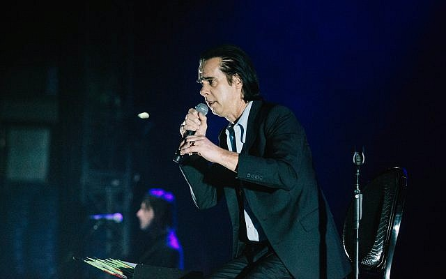 Nick Cave captivated his Tel Aviv audience Sunday night, November 19 (Courtesy Orit Pnini)